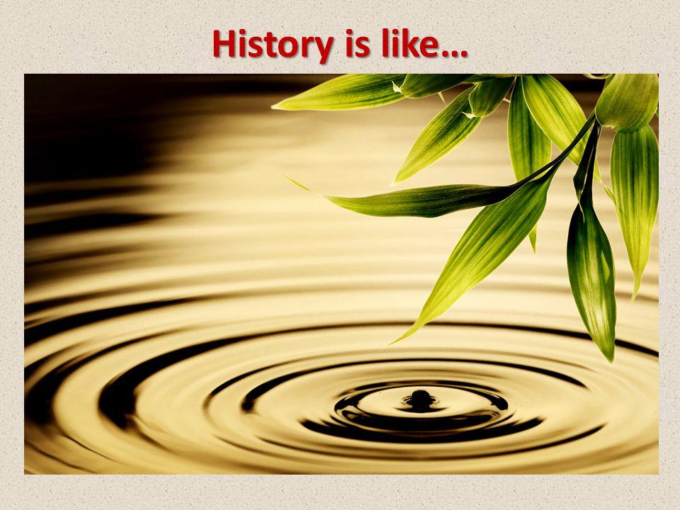 History is like…