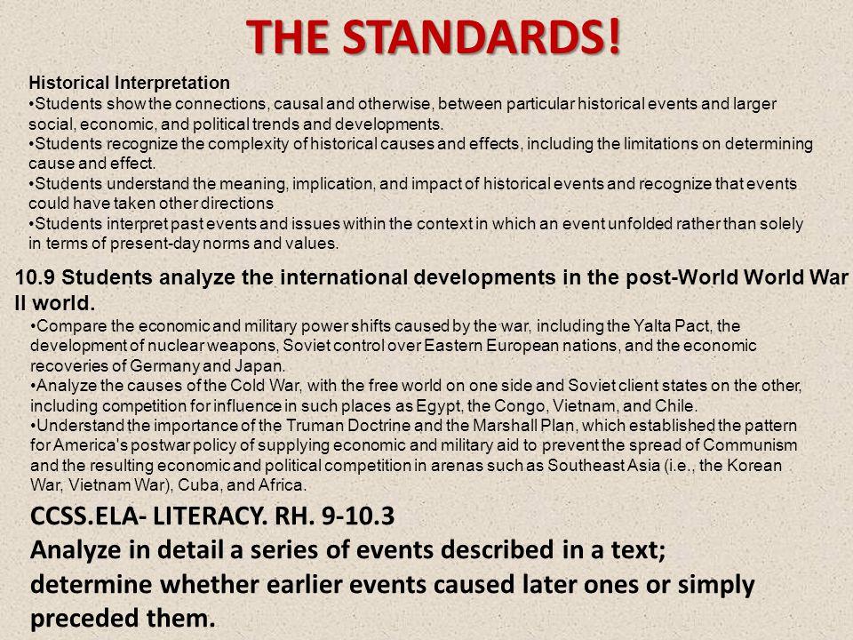 THE STANDARDS. CCSS.ELA- LITERACY. RH.