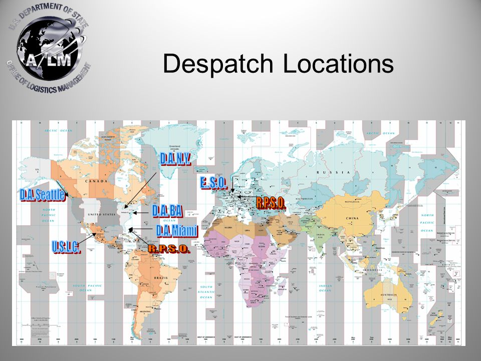 Despatch Locations