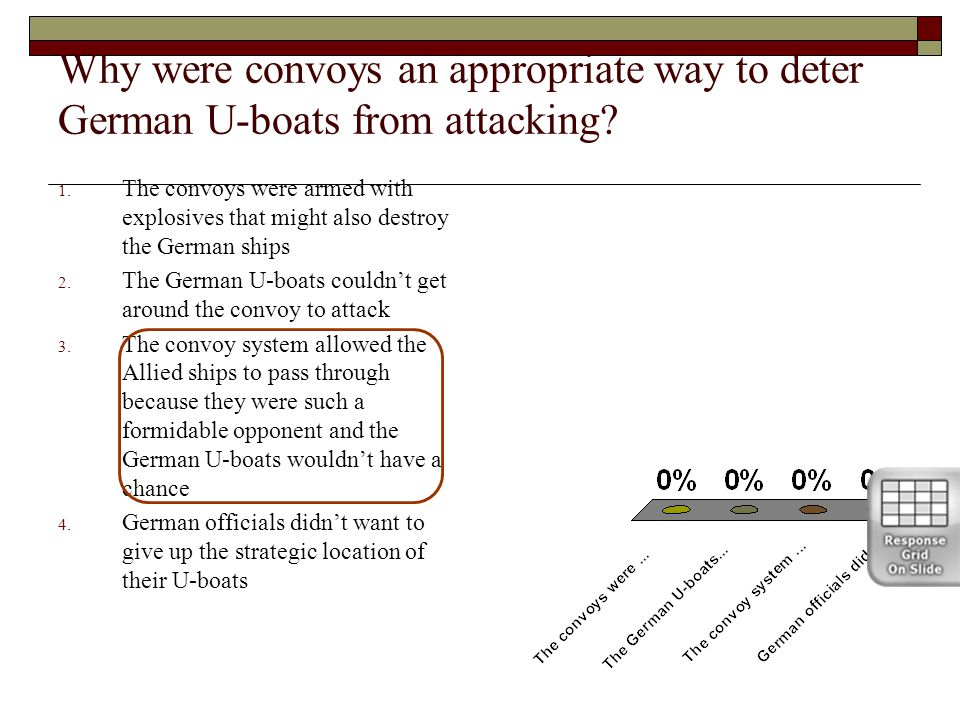 Why were convoys an appropriate way to deter German U-boats from attacking.