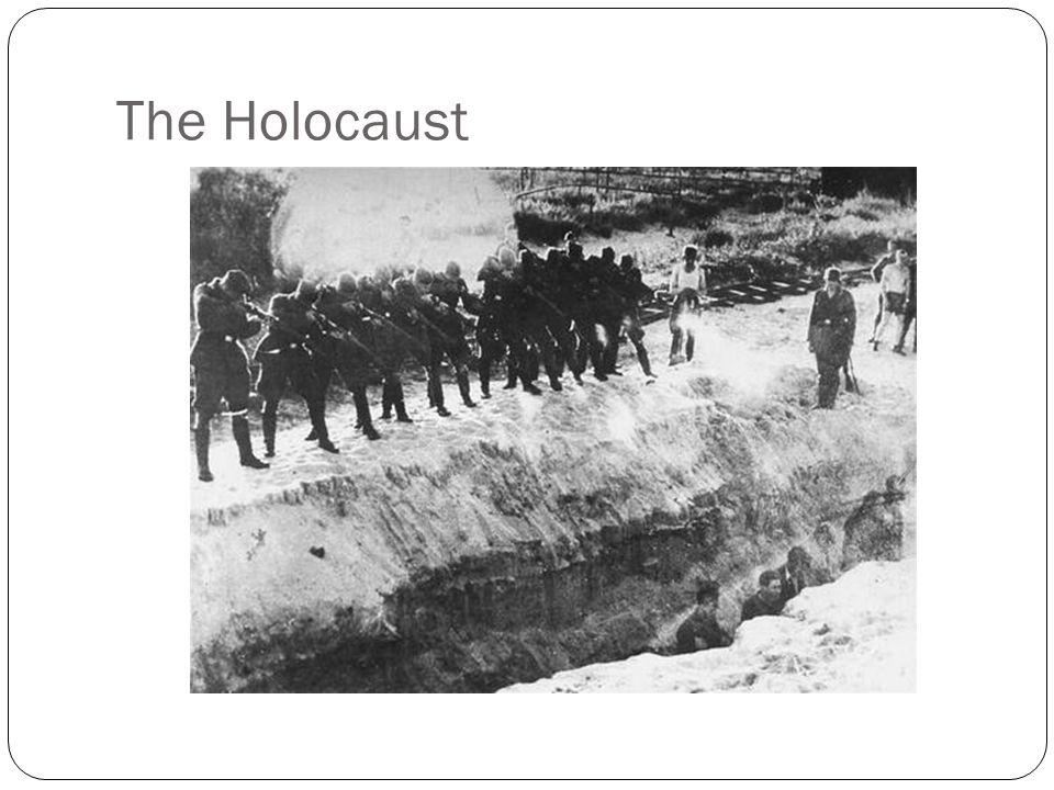 It is estimated that 1 million Jews were killed by the Einsatzgruppen.