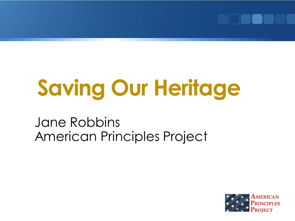 Jane Robbins American Principles Project