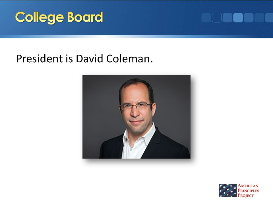 President is David Coleman.