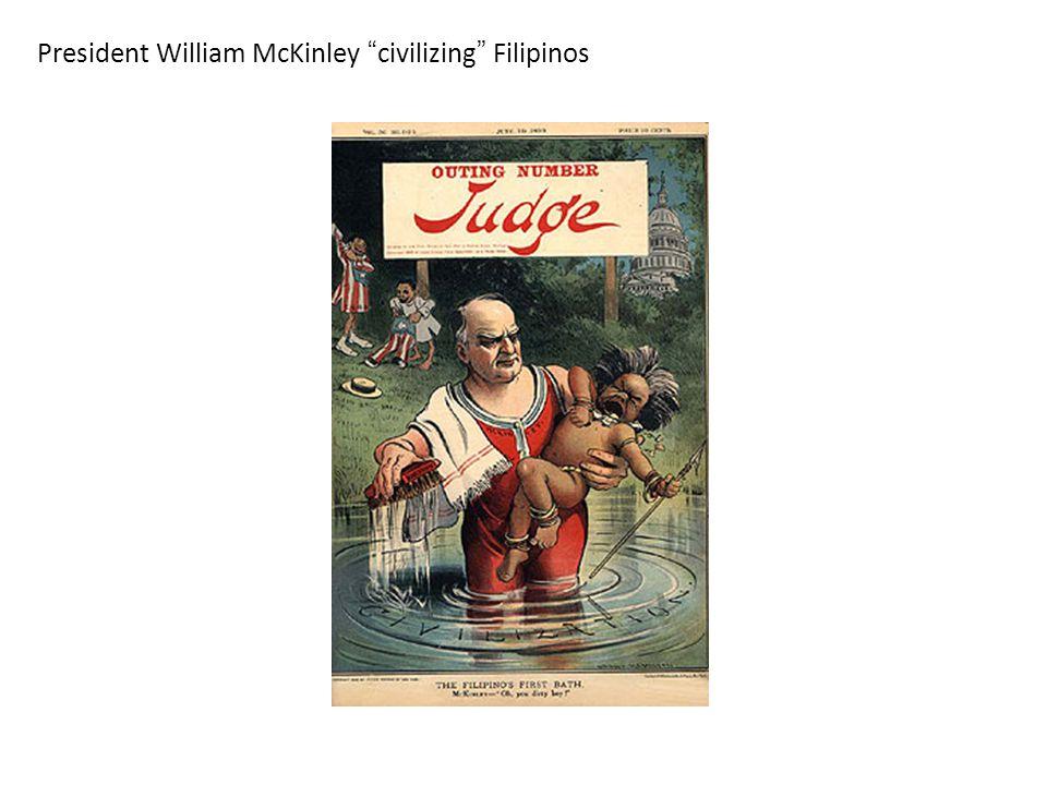 President William McKinley civilizing Filipinos