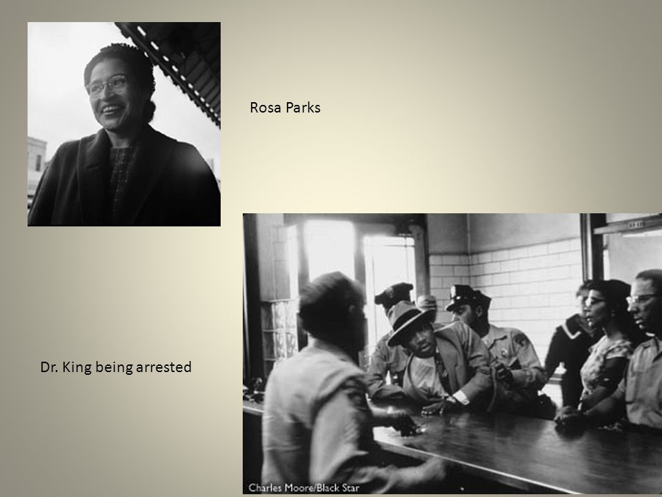 Rosa Parks Dr. King being arrested