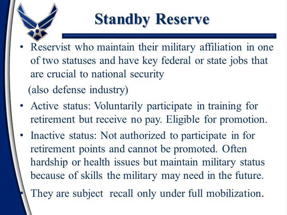 Do not train Are not attached to active units Inactive National Guard