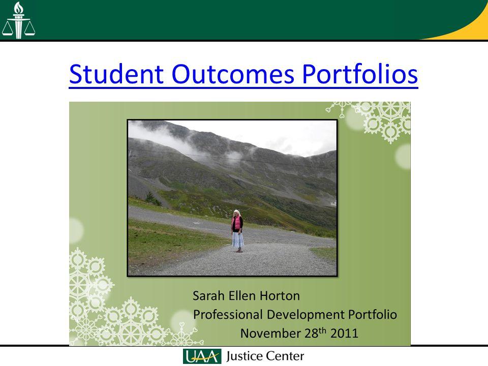 Student Outcomes Portfolios