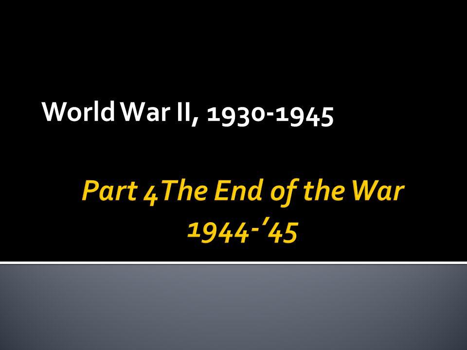 World War II, 1930-1945
