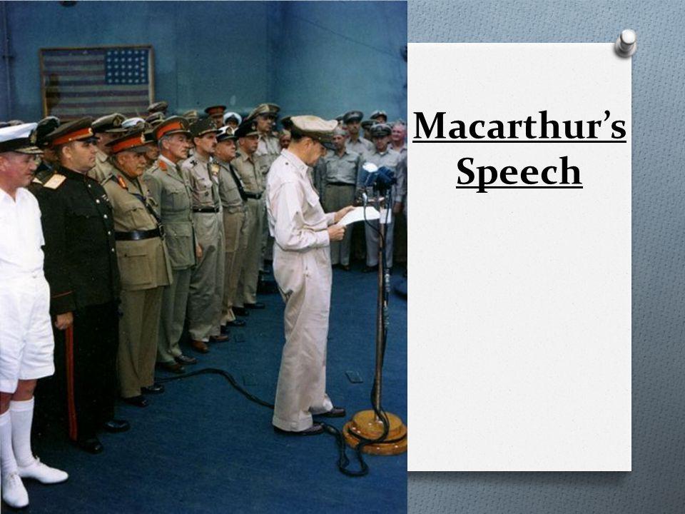 Macarthur's Speech