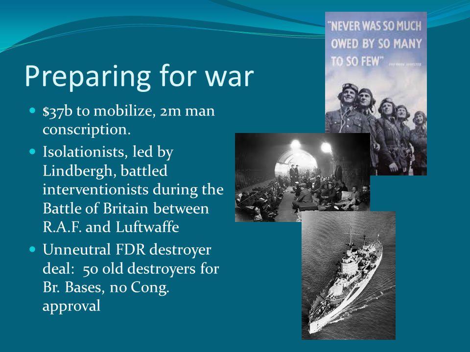 Preparing for war $37b to mobilize, 2m man conscription.