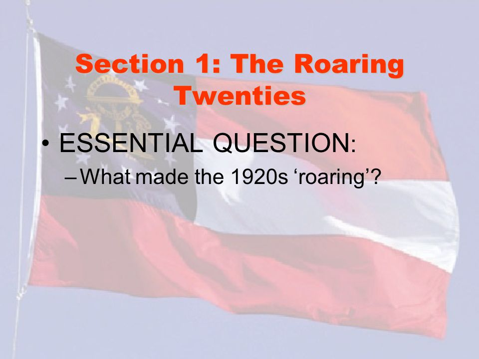 Section 2: The Great Depression What words do I need to know.