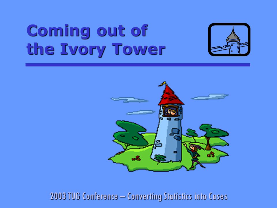 2003 TUG Conference – Converting Statistics into Cases Look for the Underlying Mechanics § Vertical Market Control – the origin of our anti-trust laws.Vertical Market Control – the origin of our anti-trust laws.