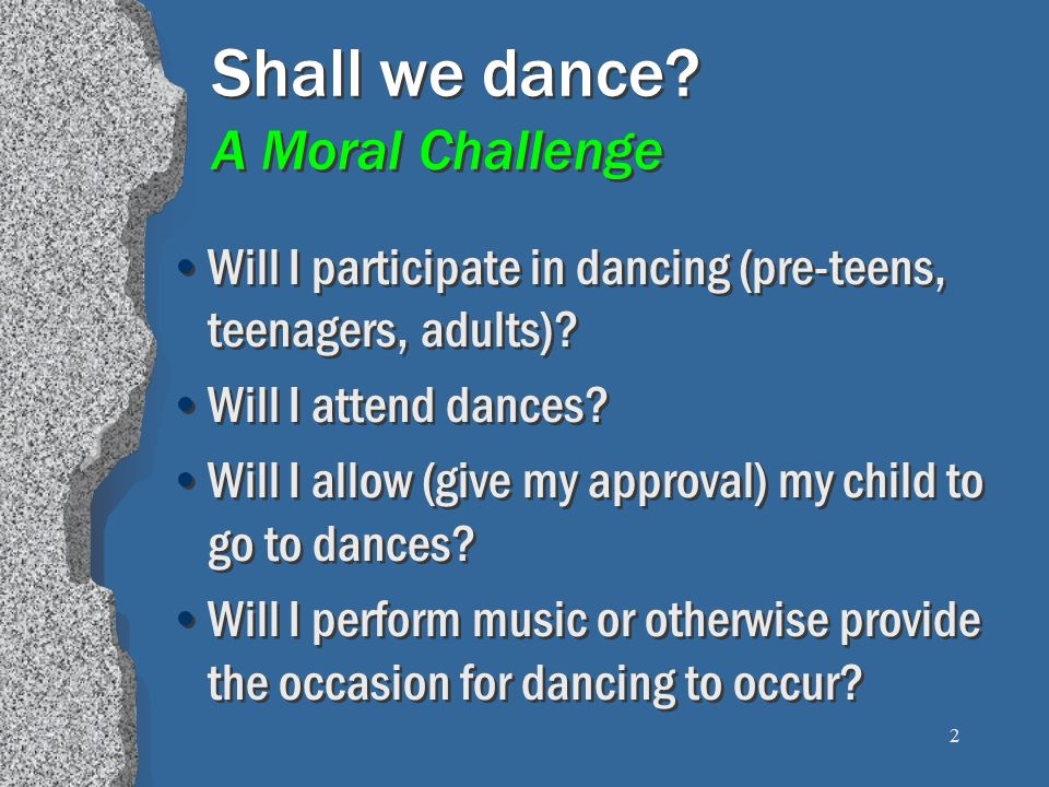 23 Dancing is Contrary to Moral Purity Herod's pleasure (Mk.