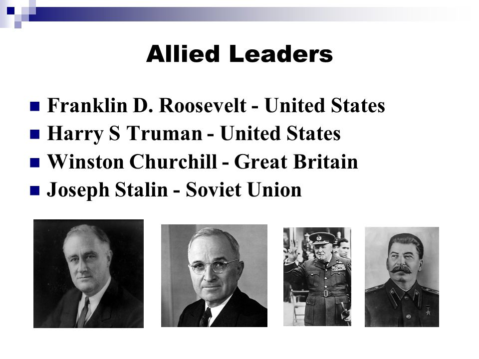 Allied Leaders Franklin D.