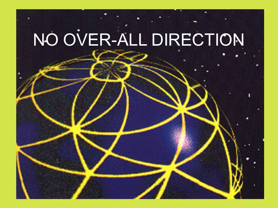 NO OVER-ALL DIRECTION