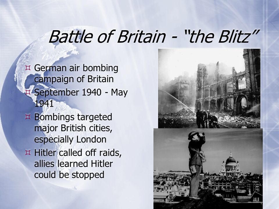 How did the Battle of Britain lead to the Blitz?