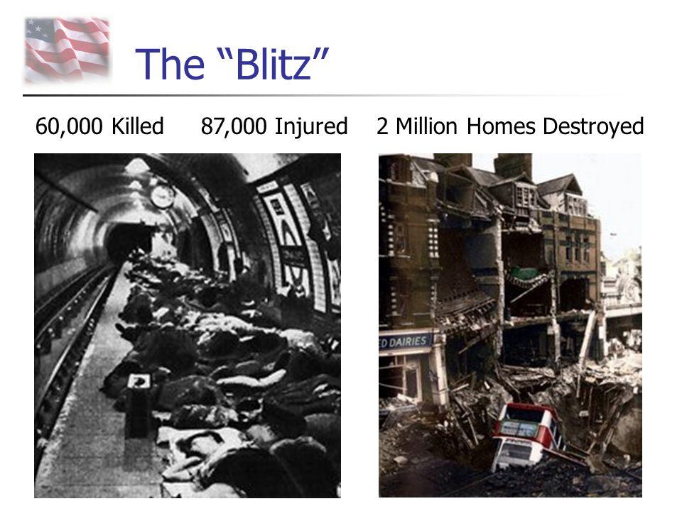 "The ""Blitz"" 60,000 Killed 87,000 Injured 2 Million Homes Destroyed"