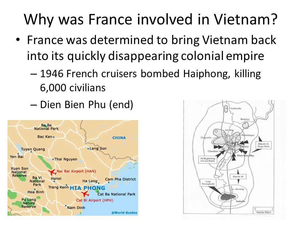 Why was France involved in Vietnam.
