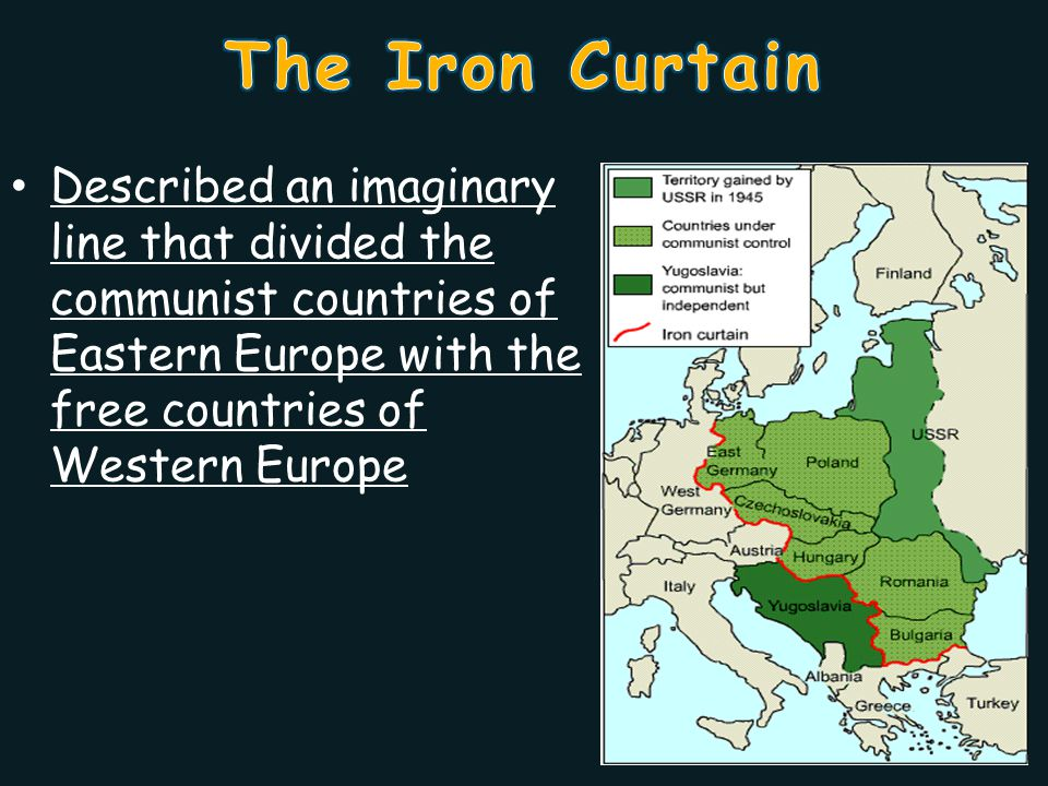 From Stettin in the Baltic, to Trieste in the Adriatic, an iron curtain has descended across the continent.
