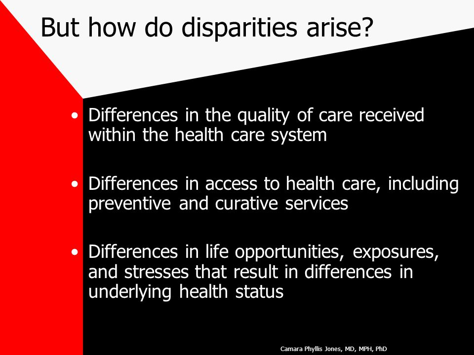 But how do disparities arise.