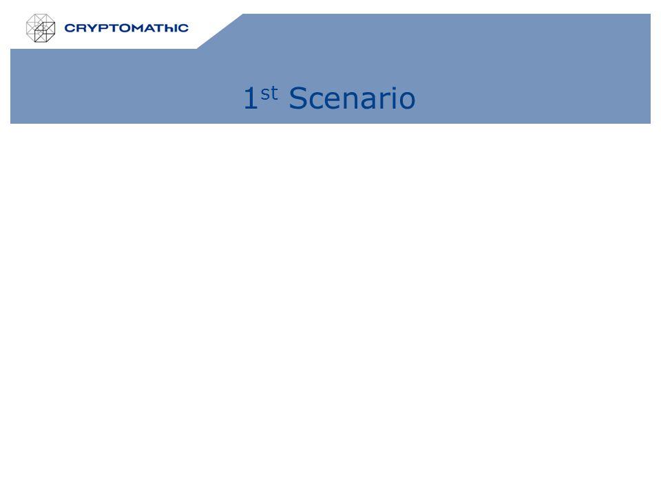 1 st Scenario
