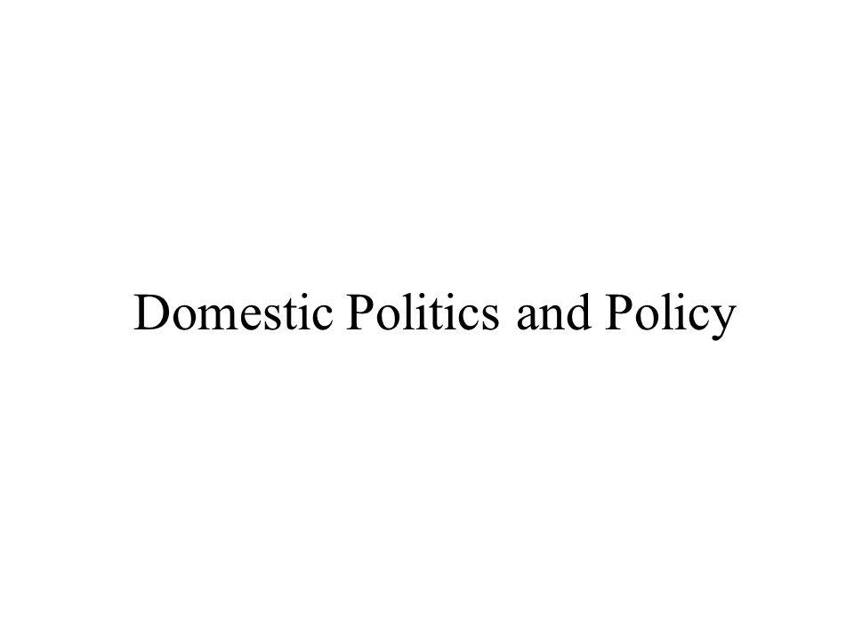 Domestic Politics and Policy