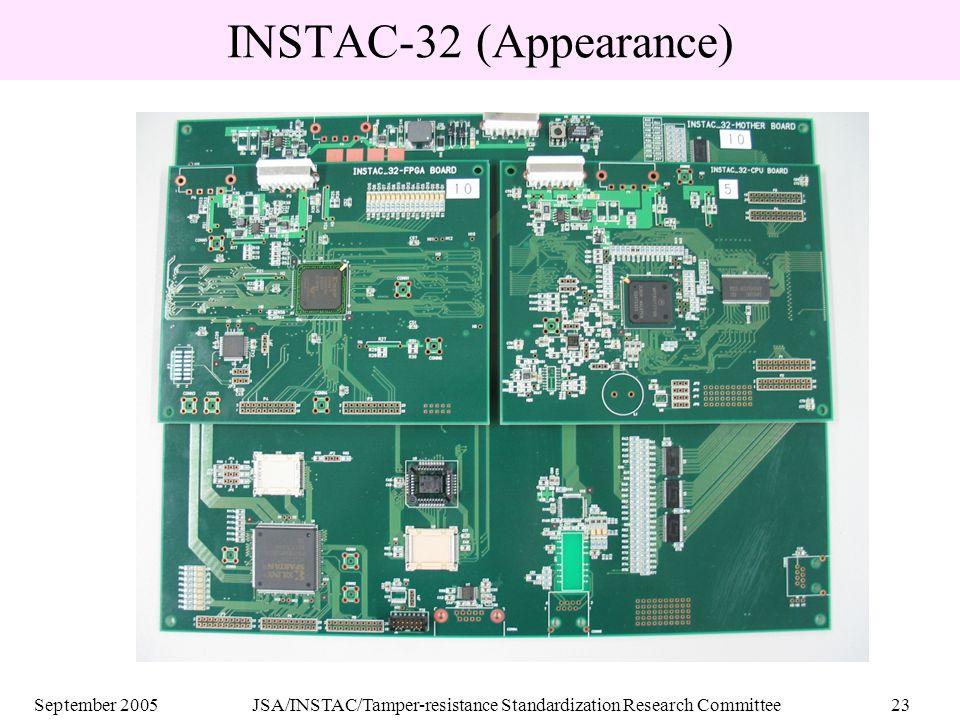 September 2005JSA/INSTAC/Tamper-resistance Standardization Research Committee23 INSTAC-32 (Appearance)