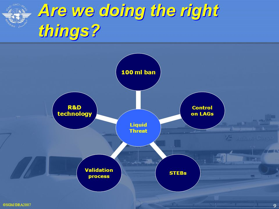 ©SGM/DRA2007 9 Are we doing the right things.