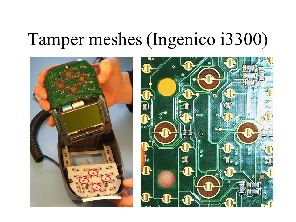 Tamper meshes (Ingenico i3300)