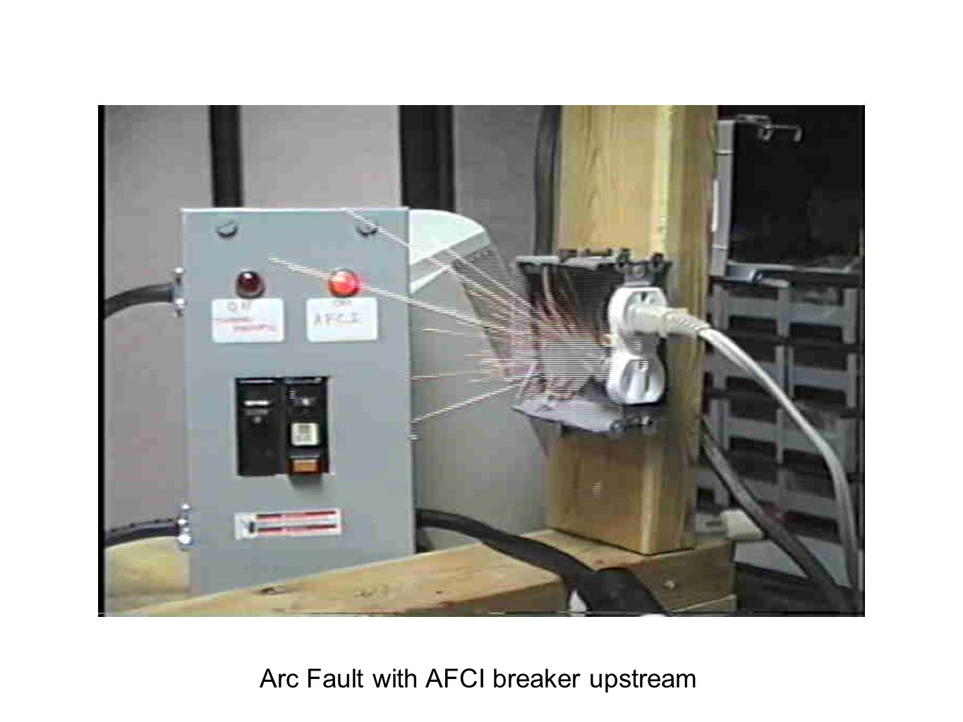 Arc Fault with AFCI breaker upstream
