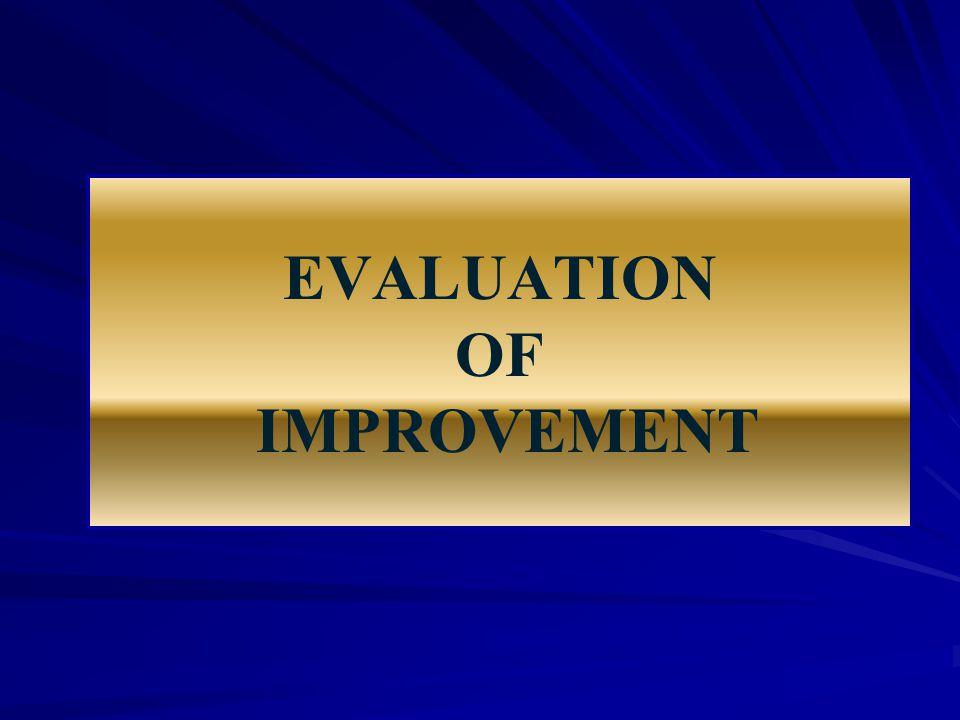EVALUATION OF IMPROVEMENT
