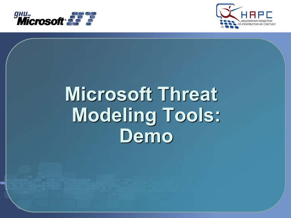 Microsoft Threat Modeling Tools: Demo