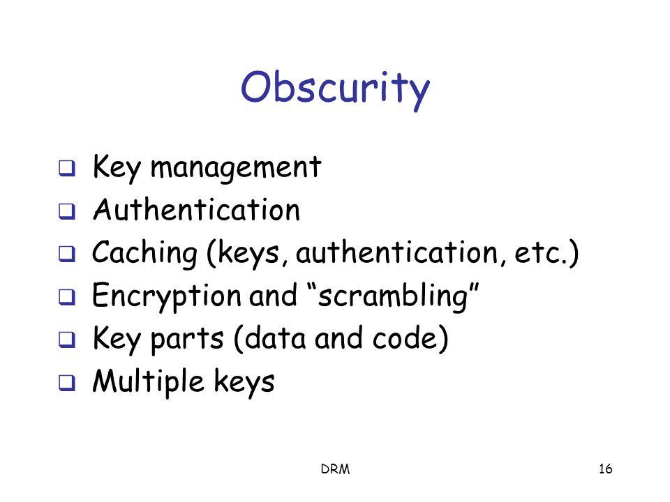 DRM15 Anti-debugger Encrypted code Tamper-resistance