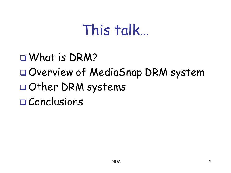 DRM12 Untethered mode SDS Recipient Sender key