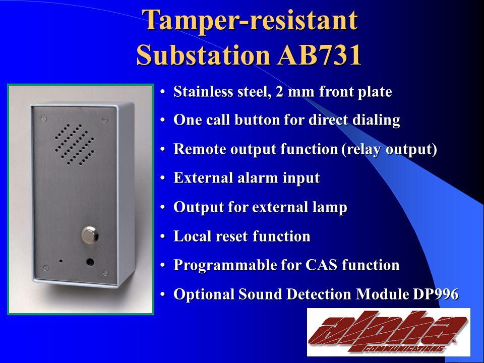 Tamper-resistant Substations.