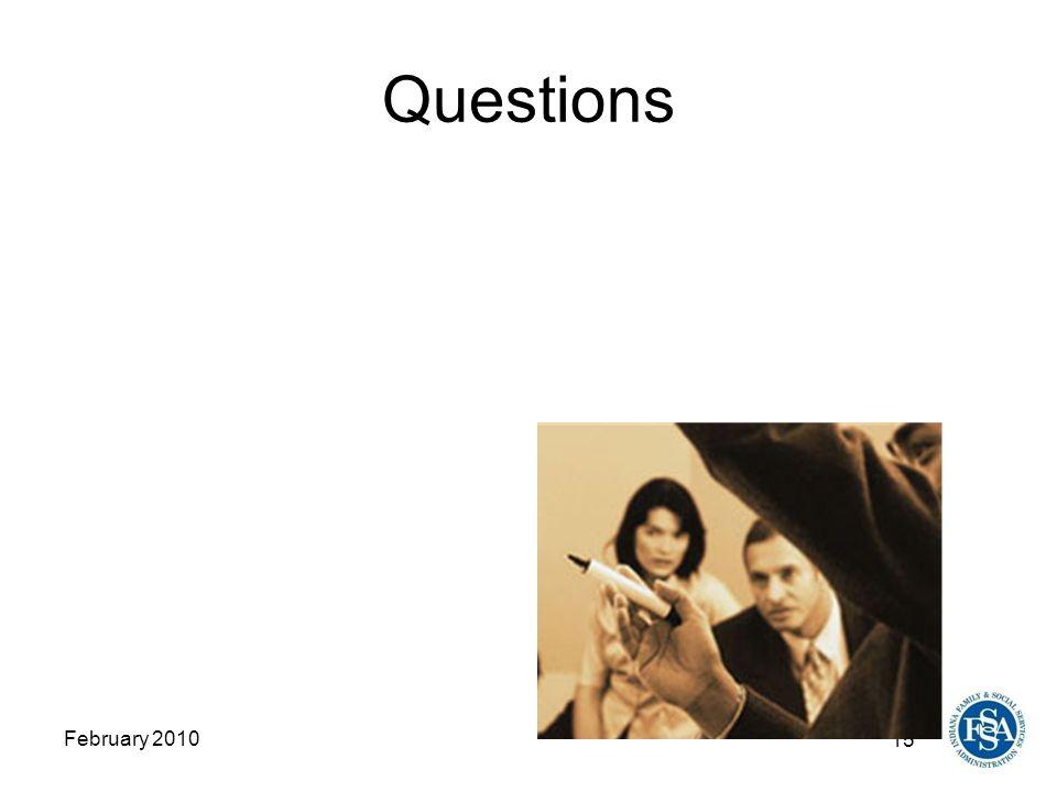 15 February 2010 Questions