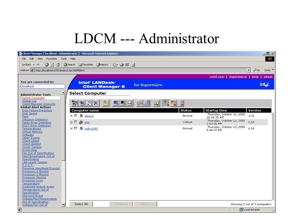 LDCM --- Administrator