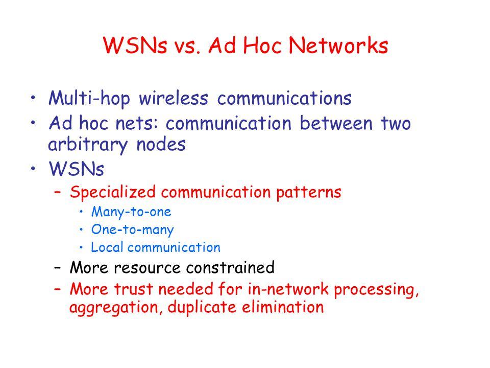 WSNs vs.