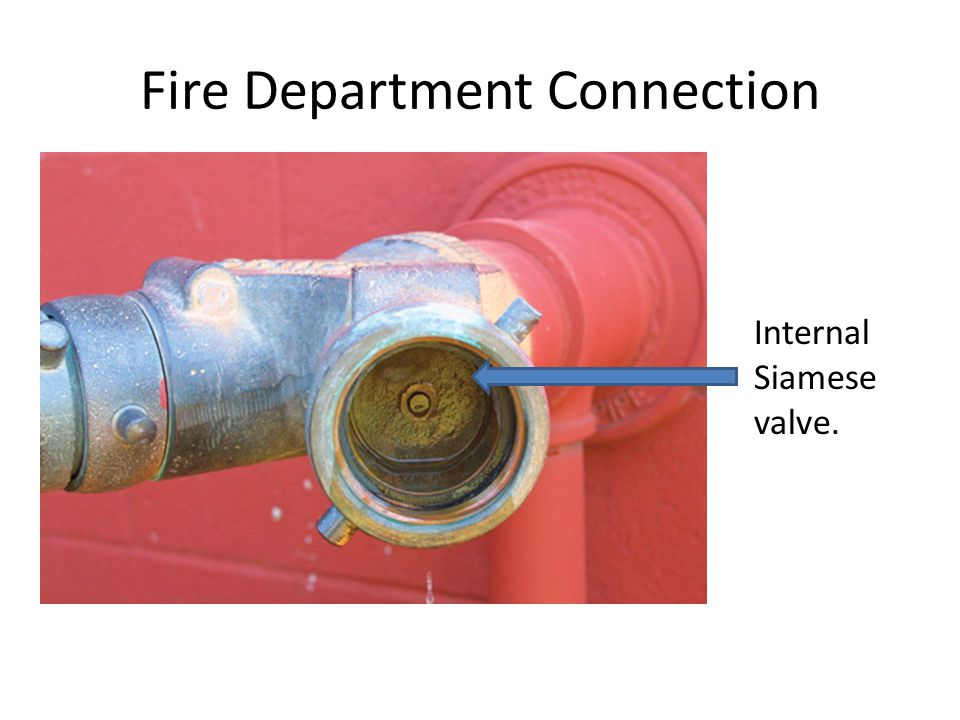 Fire Department Connection Internal Siamese valve.