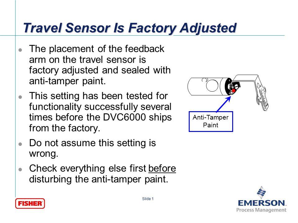 [File Name or Event] Emerson Confidential 27-Jun-01, Slide 2 Slide 2 DVC6000 – Potentiometer Issues Potentiometer Components