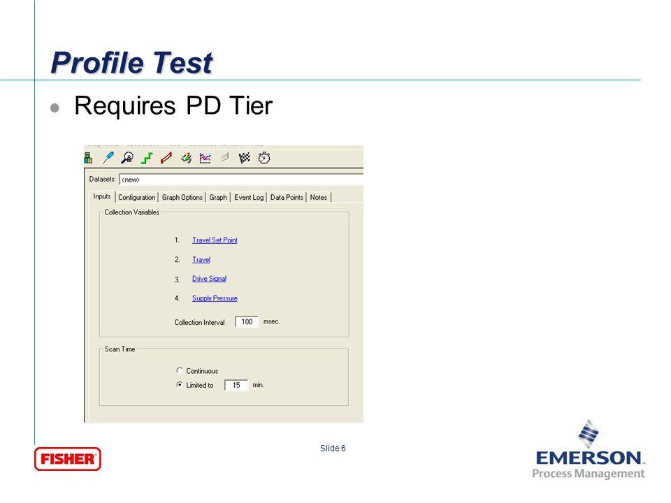 [File Name or Event] Emerson Confidential 27-Jun-01, Slide 7 Slide 7 PD Profile No problems
