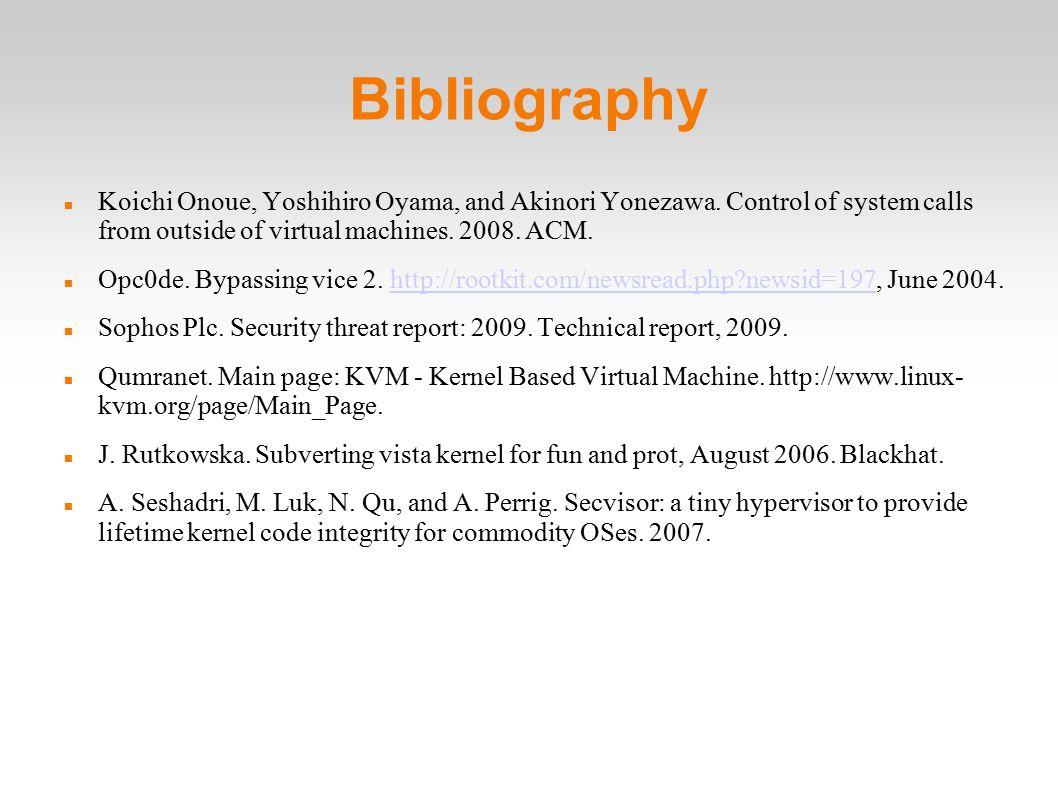 Bibliography Koichi Onoue, Yoshihiro Oyama, and Akinori Yonezawa.