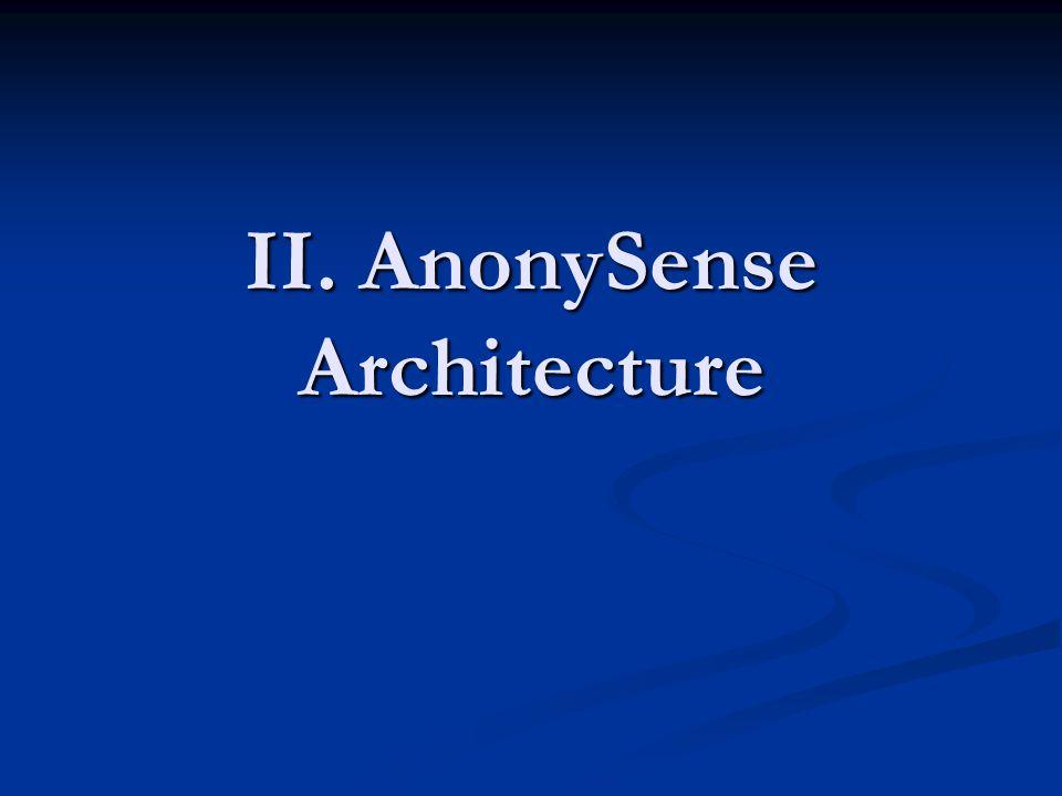 II. AnonySense Architecture