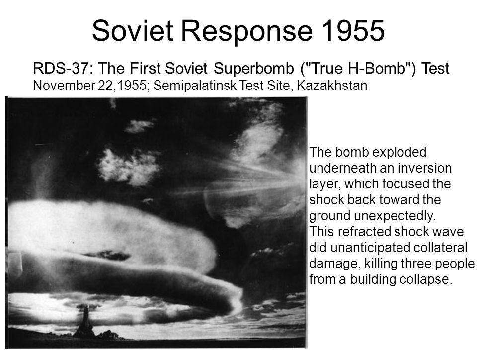 Soviet Response 1955 RDS-37: The First Soviet Superbomb (