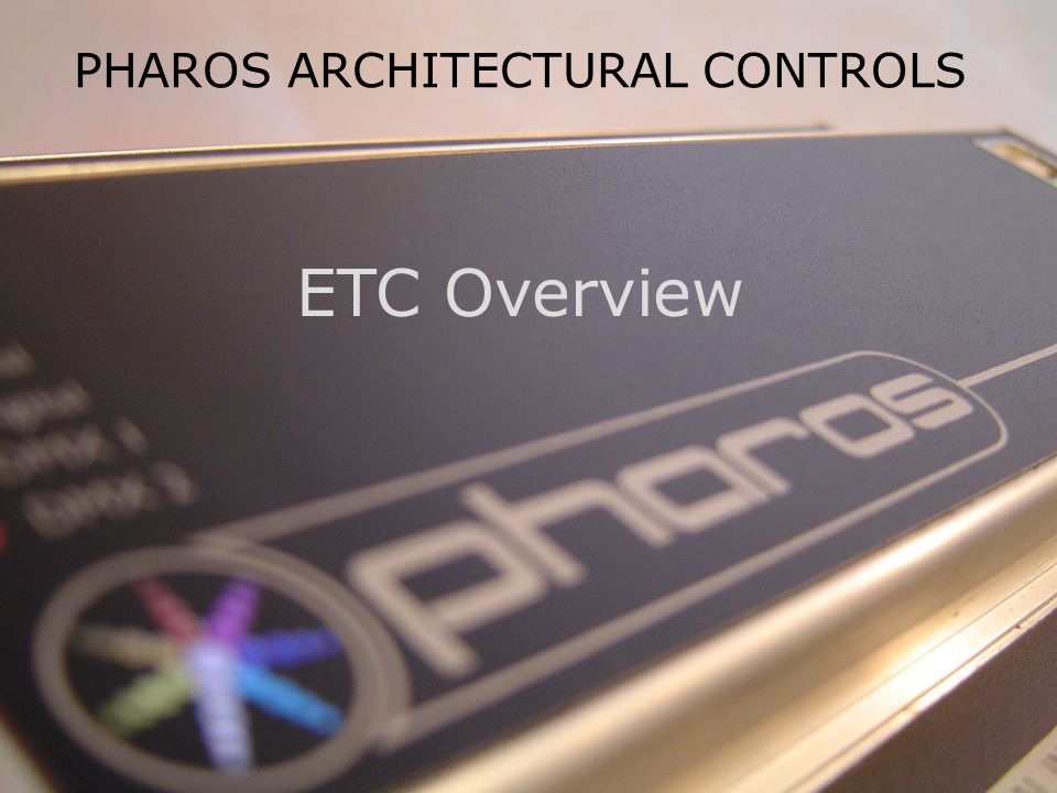 PHAROS ARCHITECTURAL CONTROLS Designer Software Step by Step Follow the tabs on the left in order.