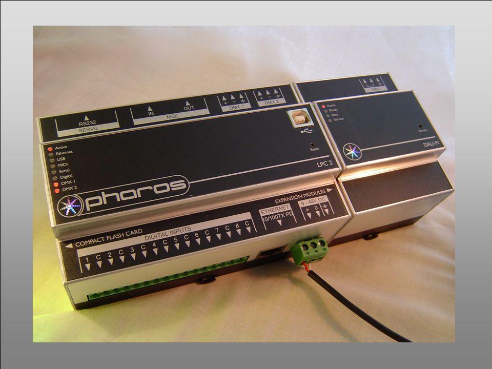 PHAROS ARCHITECTURAL CONTROLS 9-48v dc LEDs DMX Digital barometer RS232 Contact closures ADSL Ethernet Tabard Square Barometer