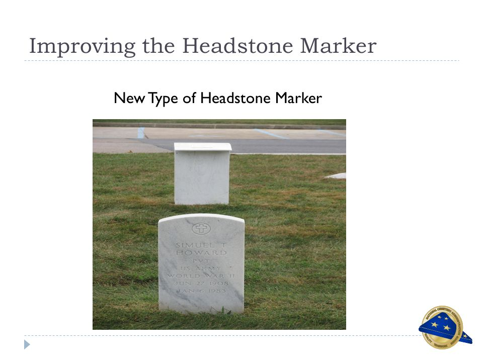 Improving the Headstone Marker New Type of Headstone Marker