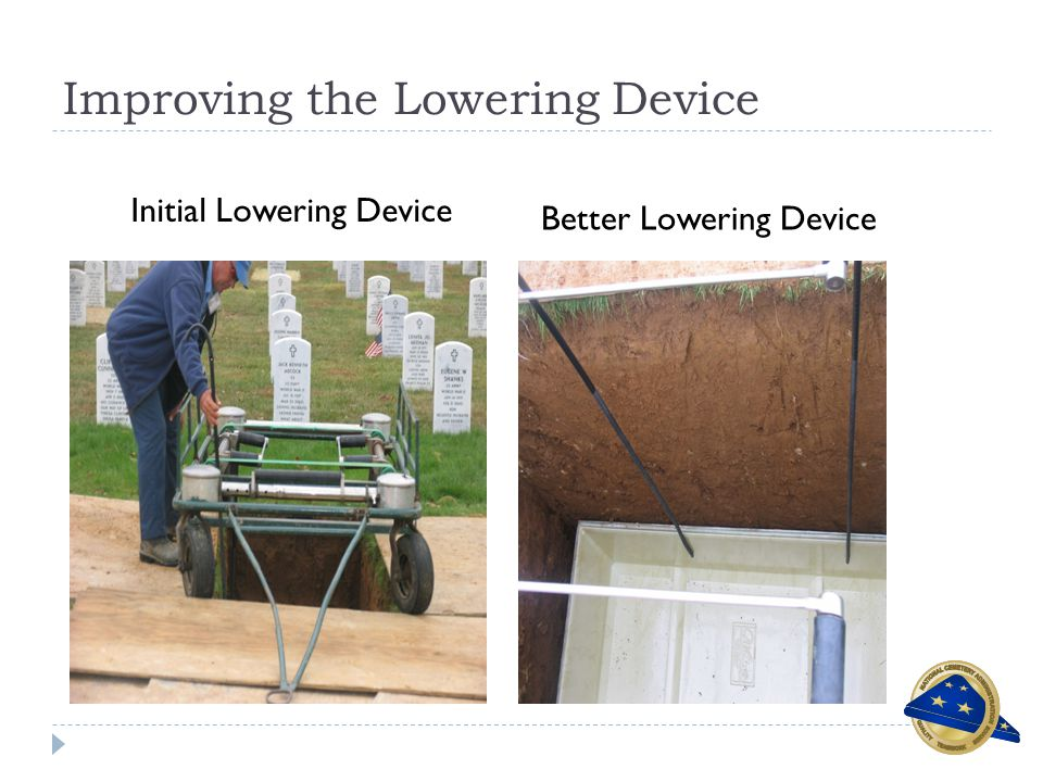 Improving the Lowering Device Initial Lowering Device Better Lowering Device