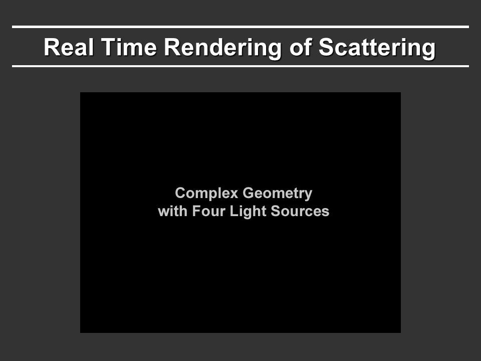 Video clip 1 Real Time Rendering of Scattering