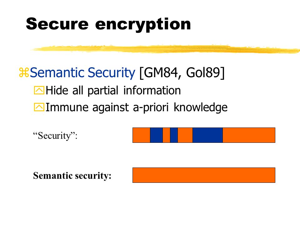 Security proofs for practical encryption schemes Yiannis Tsiounis, GTE Labs Moti Yung, CertCo LLC